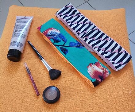 Faixa para limpeza  de pele e maquiagem.