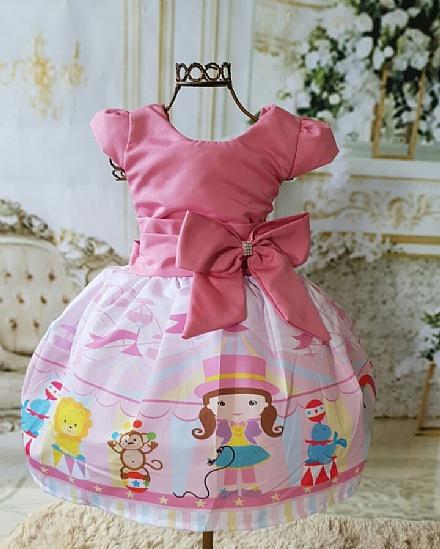 Vestido temático circo rosa