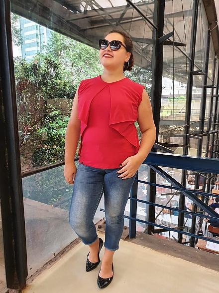 Blusa Colete Vermelha - Urbana Flor