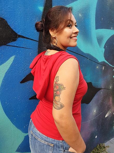 Blusa Godê Vermelha - Urbana Flor