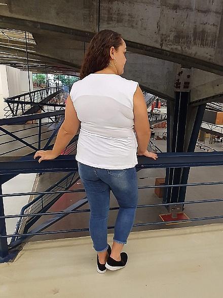 Blusa Colete Branca - Urbana Flor