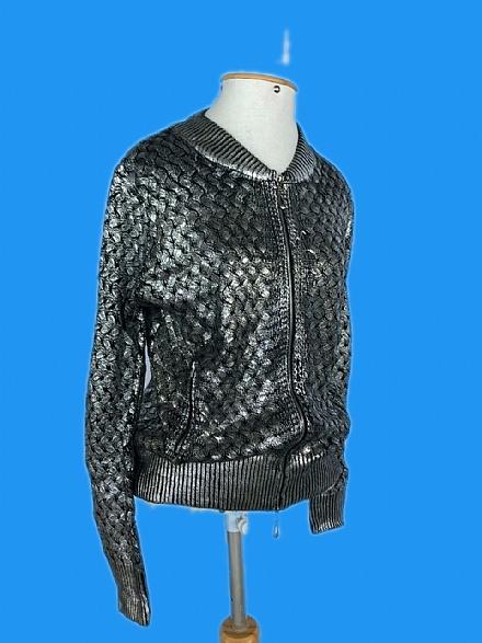 Casaquinho tricô prata