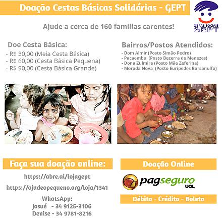 Doação Cesta Básica Solidária Grande - GEPT