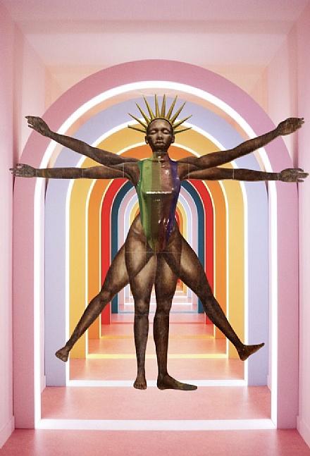 Body Paetês Arco-íris