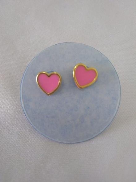 kit de brincos 3 corações