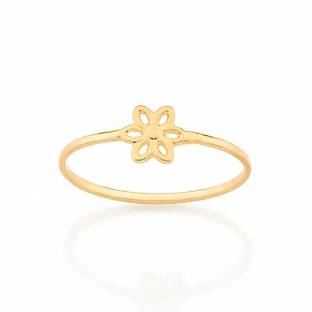 Anel skinny ring flor