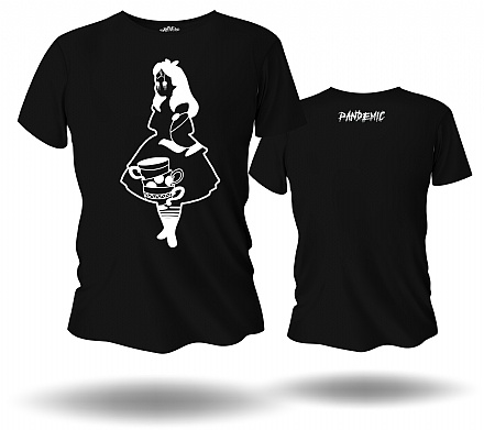 Camiseta Unissex Black Alice - Pandemic
