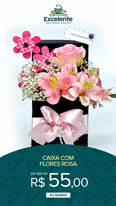 caixa de flores