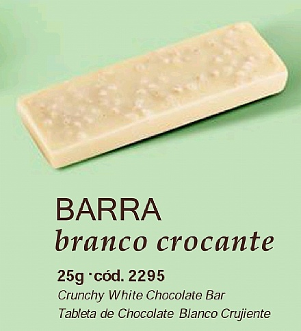 Barra de Chocolate Branco com Crocantes