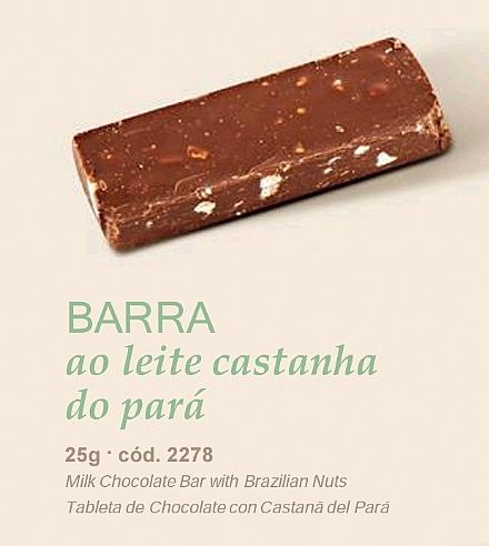 Barra ao leite castanha do Pará