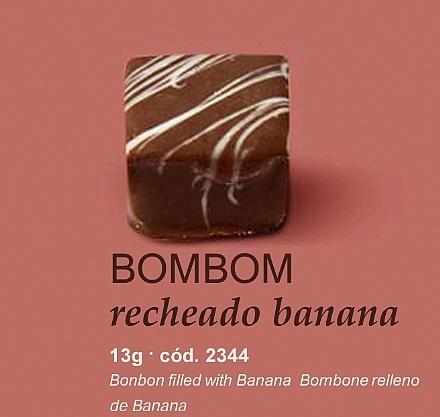 Bombom recheado banana