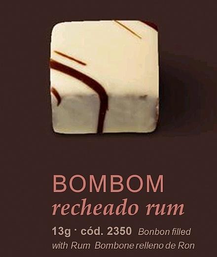 Bombom recheado rum
