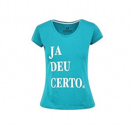 Camiseta Feminina Já deu Certo BabyLook Gola Canoa