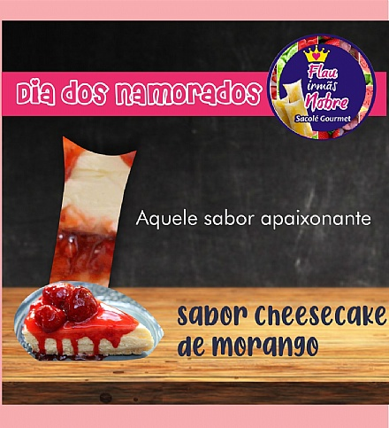 Flau de cheesecake de morango