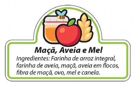 Biscoito Maçã, Aveia e Mel (150gr)