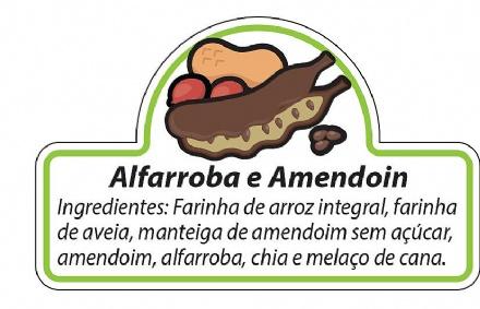 Biscoito de Alfarroba com Amendoim (150gr)