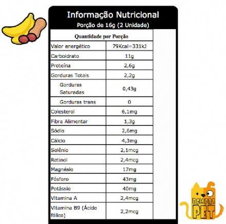 Biscoito Banana com Pasta de Amendoim (150gr)