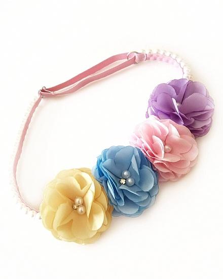 Tiara Head Band Flores Candy (Ajustável)
