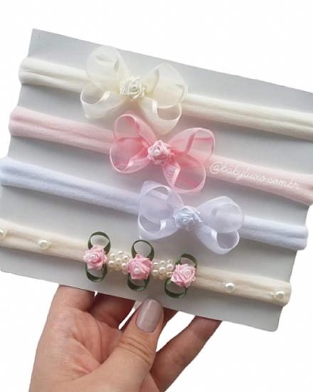 Kit Faixinhas Delicadas para Maternidade
