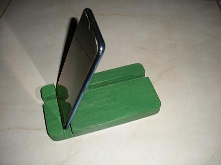 Suporte de mesa para smartphone cor verde