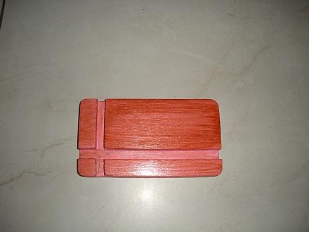 Suporte de mesa para smartphone cor rosa