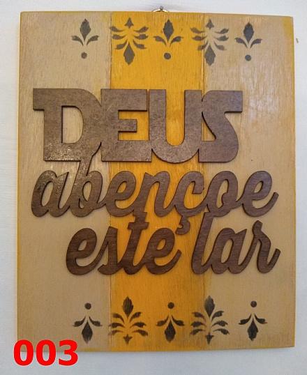 Placas de madeira, tema Deus
