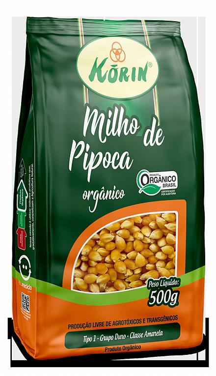 Milho de Pipoca Orgânica Korin