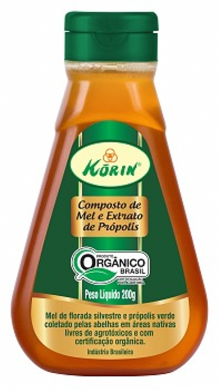 Composto de mel e própolis orgânico Korin