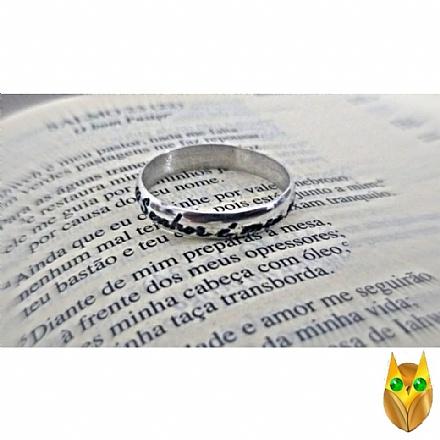 Anel Salmo 23 de prata