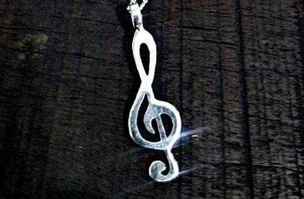 Pingente Nota Musical em prata